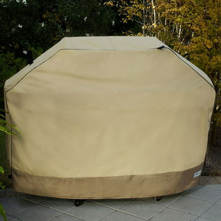 Sure Fit 65   Large Two Tone Grill Cover  Taupe Olive