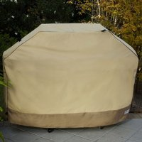 """Sure Fit 65"""" Large Two-Tone Grill Cover, Taupe/Olive"""