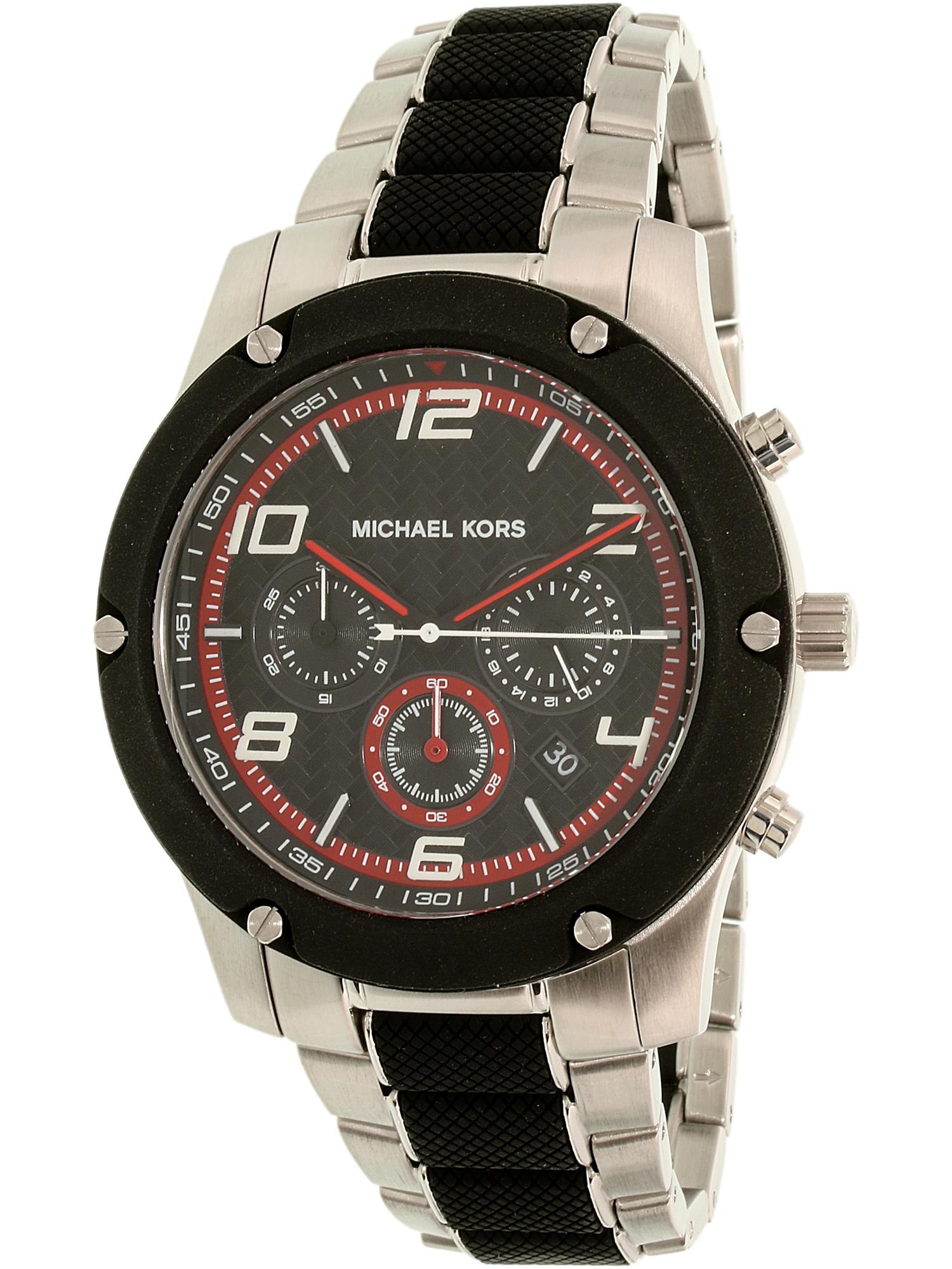 Michael Kors Men's Caine MK8474 Black Stainless-Steel Quartz Dress Watch