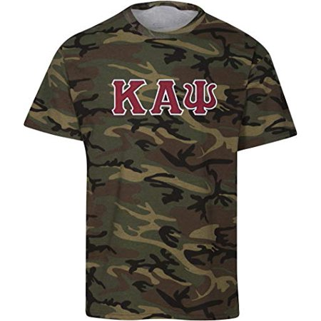 Kappa Alpha Psi Embroidered Twill Camo T Shirt Camouflage -