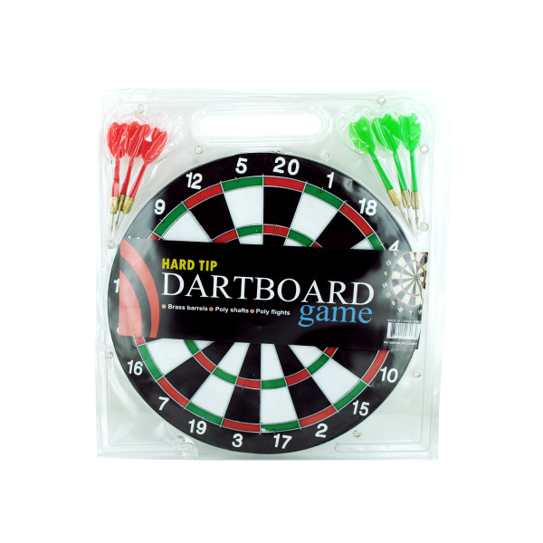 Dartboard Game With Hard Tip Darts (Pack Of 6)