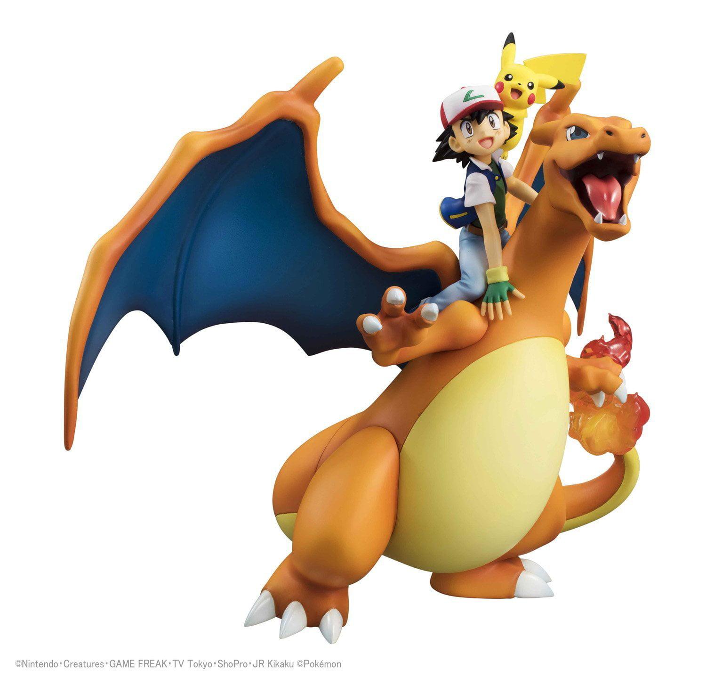 megahouse g e m series pokemon ash ketchum pikachu charizard 7 5