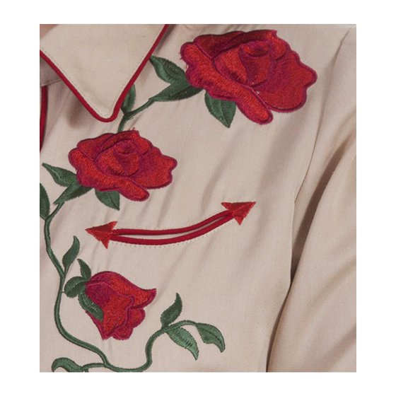 ff3f4574f9fcd3 Scully - Scully Women's Rose Embroidered Western Shirt - Pl871-Tan ...
