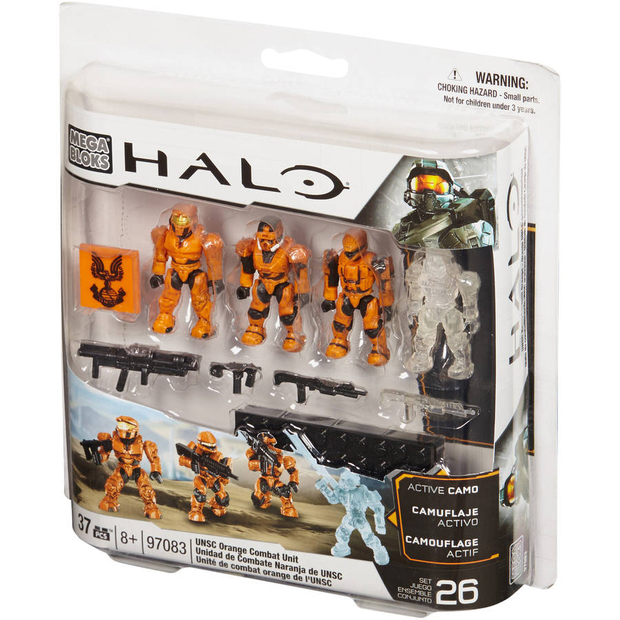 Mega Bloks Halo Combat Unit Unsc Orange