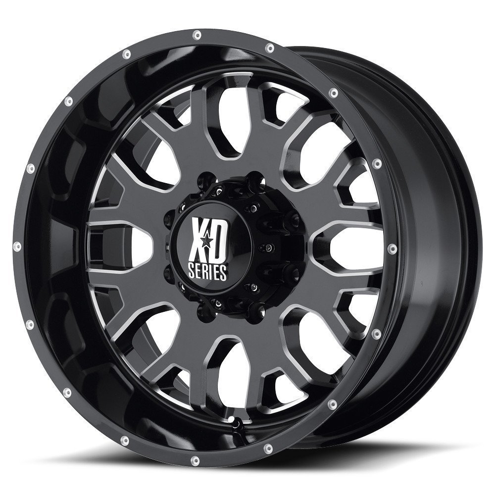 "XD-Series 808 Gloss Black Wheel with Milled Accent (17x9""/8x6.5"")"
