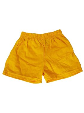 Basic Editions - Little Girls Jersey Knit Gym Shorts Banana / 4T