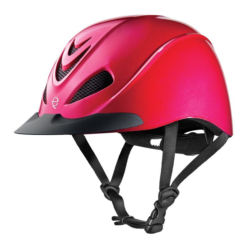 LARGE TROXEL LIBERTY FUCHSIA WITH CHEETAH HEADLINER LOW PROFILE SCHOOLING HELMET