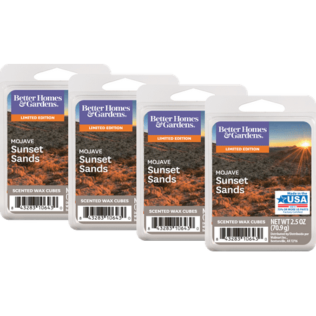 Better Homes & Gardens 2 5 oz Mojave Sunset Sands Scented Wax Melts, 4-Pack