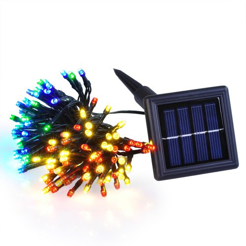 Multicolor Solar Powered Outdoor Christmas String Light 37ft 100 LEDs Fairylights