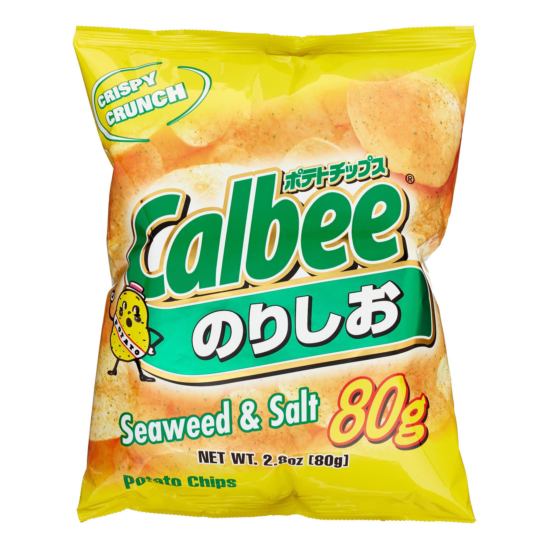 Calbee Potato Chips, Seaweed & Salt by Calbee