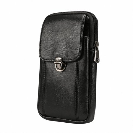 fa88bcc2eac Purse for Men Bag Phone Case, Vertical Small PU Leather Cell Phone Bag Belt  Pouch Waist Fanny Pack for iPhone X Xs Xr Xs Max 8 Plus 7 Plus Galaxy Note  ...
