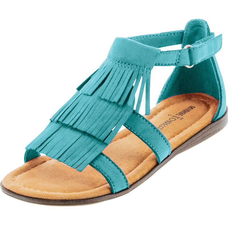 Click here to buy Minnetonka Boys Maya Turquoise Fringe Sandal by MINNETONKA.