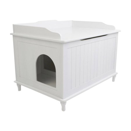 Designer Catbox Enclosed Cat Litter Box And End Table Black