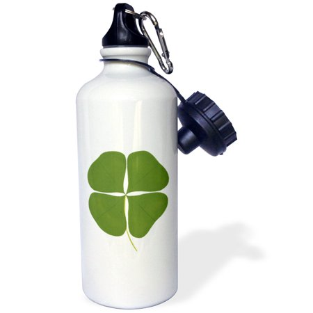 3dRose Shamrock Four Leaf Clover, Sports Water Bottle, 21oz