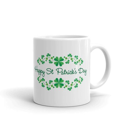 St Patricks Day Cups (Happy St. Patrick's Day Coffee Tea Ceramic Mug Office Work Cup Gift 11)