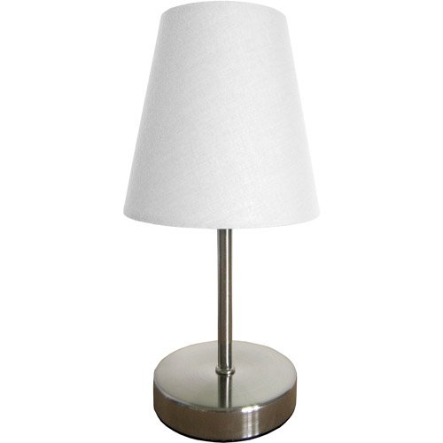 Simple designs sand nickel mini basic table lamp with fabric shade simple designs sand nickel mini basic table lamp with fabric shade walmart aloadofball Image collections