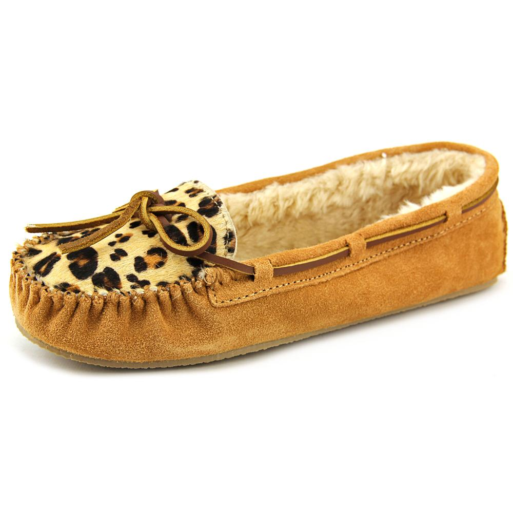 Minnetonka Cally Suede Moccasin Slippers Shoes by Minnetonka