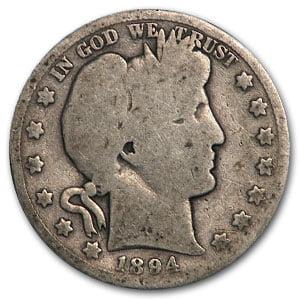 1894-S Barber Half Dollar AG
