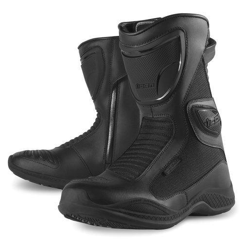 Icon Womens Reign Waterproof Street Boots Black 6.5