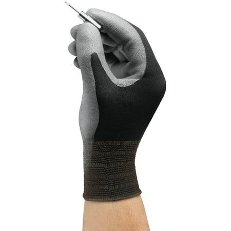 Ansell 11-600-8_BK HyFlex Nylon Polyurethane Gloves, Medium, Size 8, 12 Pairs
