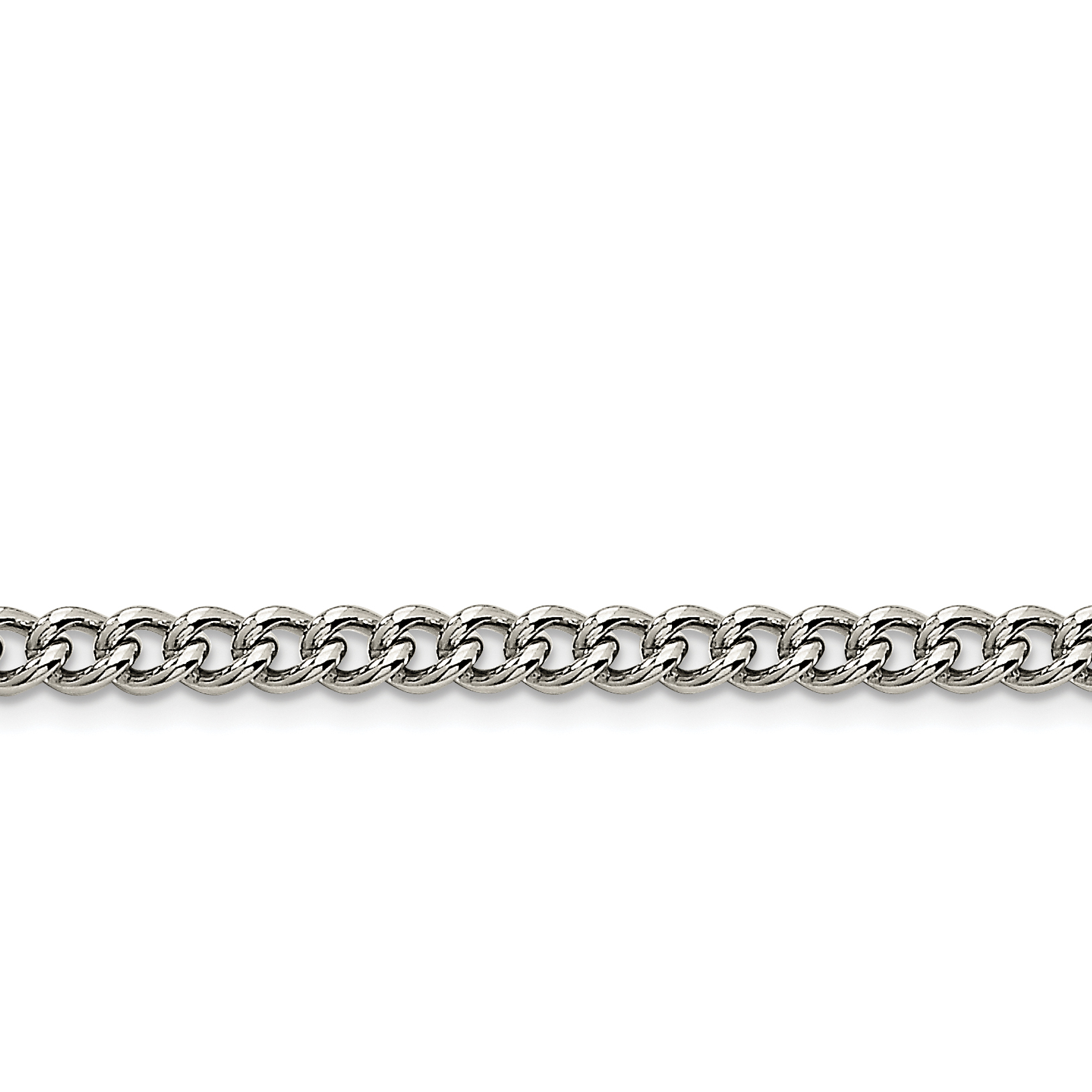 Stainless Steel 5.3mm 18 Inch Round Link Curb Chain Necklace Pendant Charm Rounded Fashion Jewelry Gifts For Women For Her - image 3 de 3