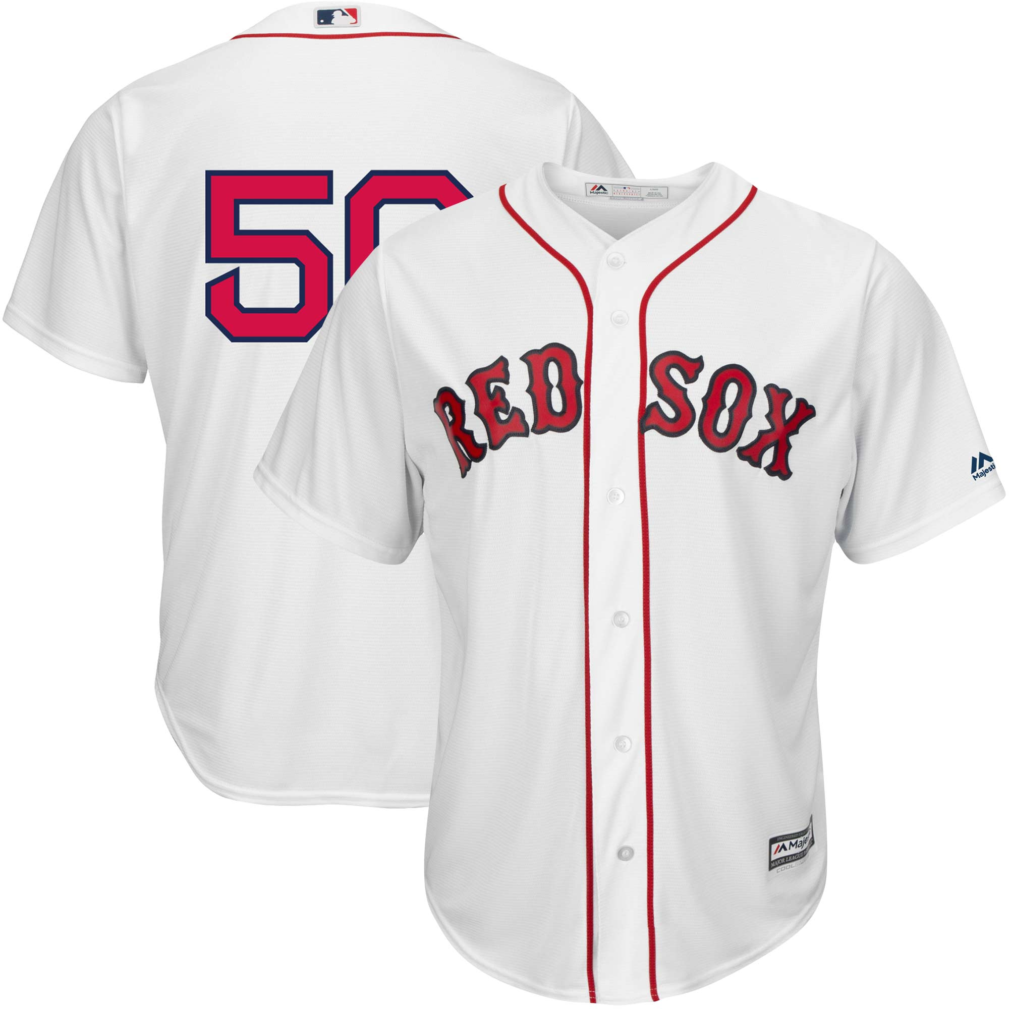 Mookie Betts Boston Red Sox Majestic Home Official Replica Cool Base Player Jersey - White