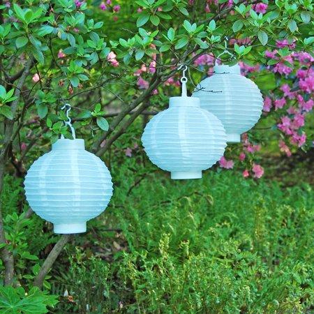 Solar Nylon Lanterns, White, 8