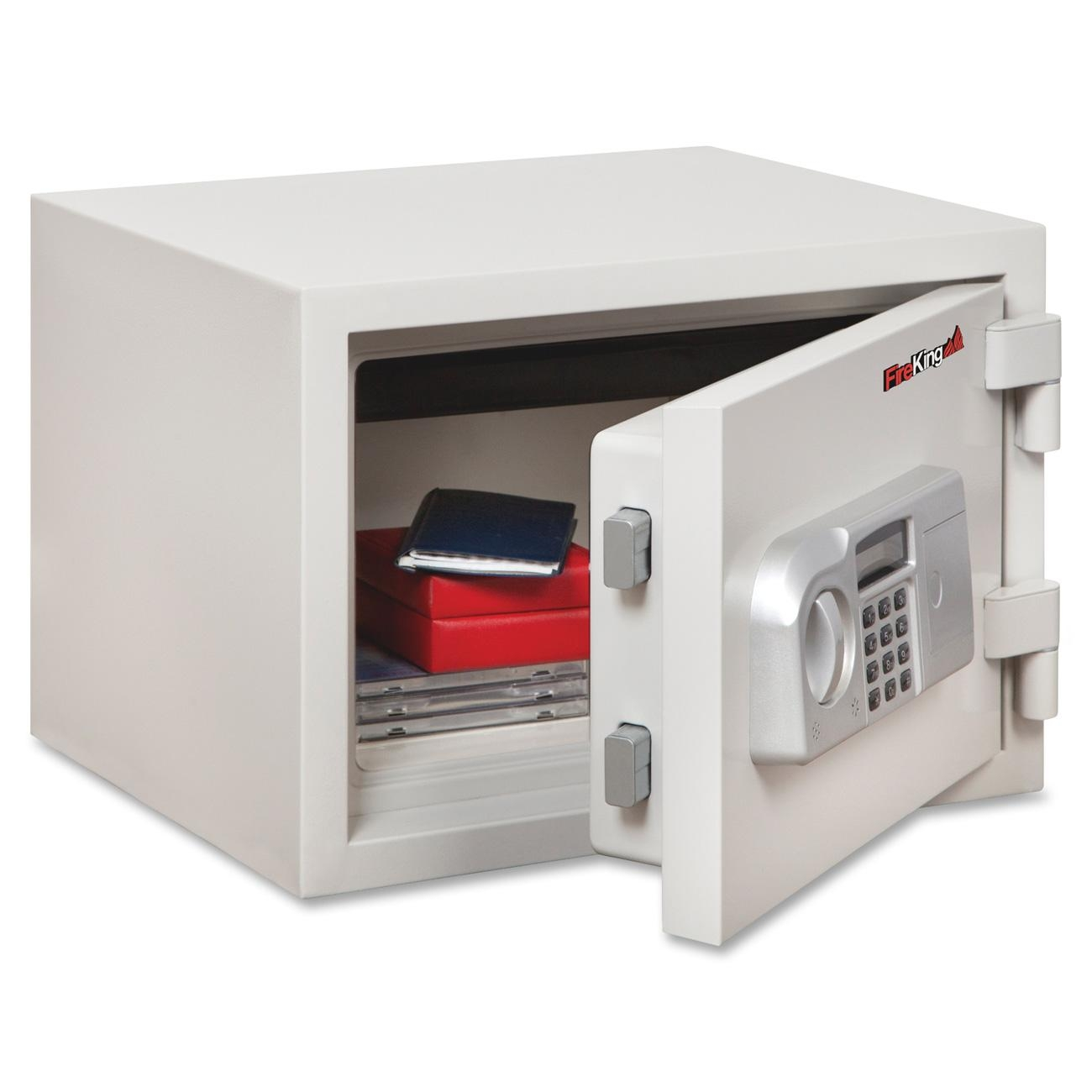 """Fireking .53 Cubic Capacity One-hour Fire Safe - 0.53 Ft - Electronic, Programmable Lock Lock Bolt[s] - 11.8"""" X 16.5"""" X 14"""" - White (KF08121WHE)"""