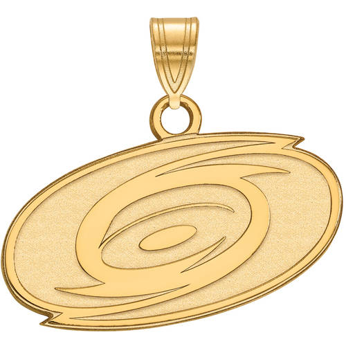 LogoArt NHL Carolina Hurricanes 14kt Gold-Plated Sterling Silver Small Pendant