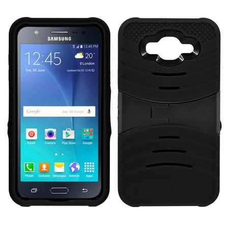 samsung galaxy j7 hybrid silicone case cover stand black. Black Bedroom Furniture Sets. Home Design Ideas