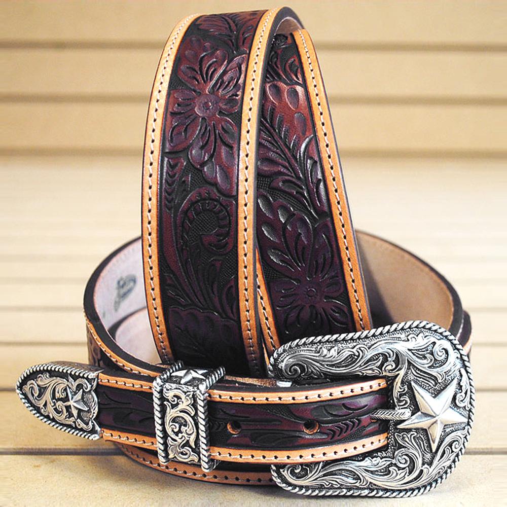 Justin Men/'s Basic Leather Work Belt Reg And Big
