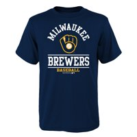 Youth Navy Milwaukee Brewers Arch T-Shirt