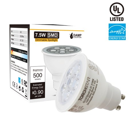 ENERGY STAR Dimmable MR16 GU10 LED Light Bulb, 7.5W (75W Equivalent), 2700K Soft White - Led Lights Bulk