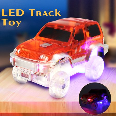 Children Mini Electric LED Car for Magic Tracks Shining Race Vehicle ...