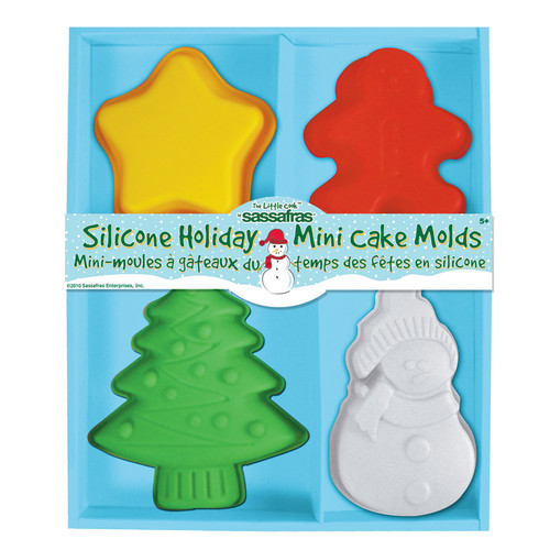 Sassafras Holiday Mini Cake Molds