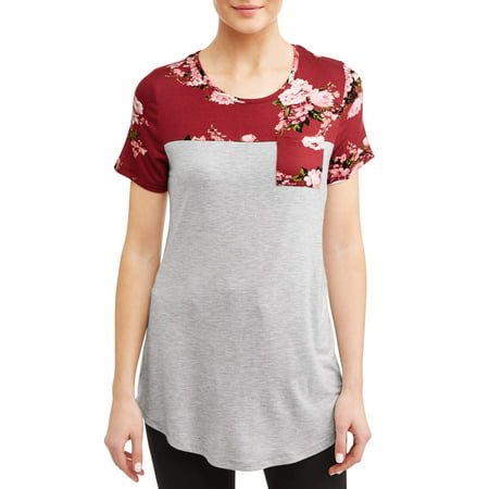 Day Trip Floral Shirt (Women's Floral Pocket T-Shirt)