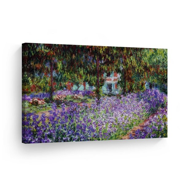 Smile Art Design The Artist S Garden At Giverny By Claude Monet Canvas Wall Art Canvas Print