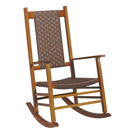Large Natural Wicker - Jack Post Knollwood Rocker with Wicker in Natural