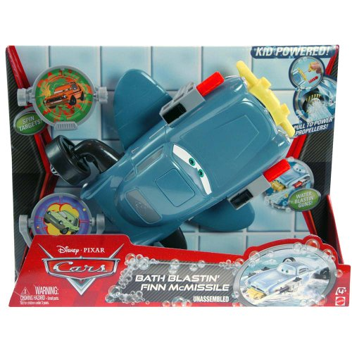 Disney Cars 2 Bath Blastin' Finn McMissile Play Set
