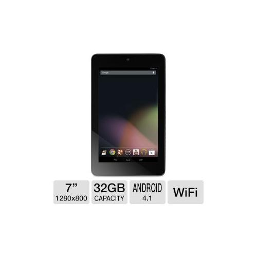 """Refurbished ASUS Google Nexus 7 Internet Tablet - Android 4.1 Jelly Bean, 7"""" 10-finger Multi-Touch, NVIDIA Tegra 3 1.2GHz,  32GB Sto"""
