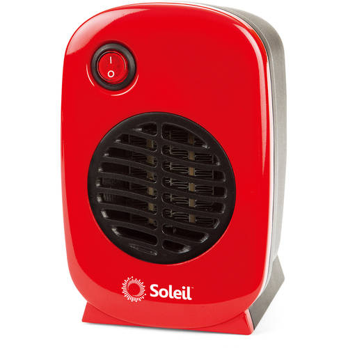 Soleil Personal Electric Ceramic Heater, 250 Watt MH-01,Red