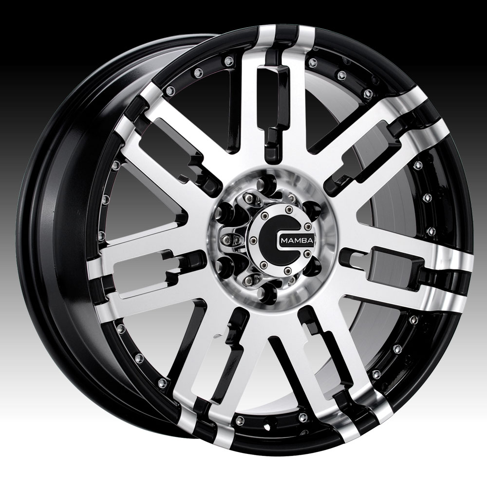 Mamba 582MB M2X Machined Gloss Black 18x9 5x5.5 19mm (M2X898519B)