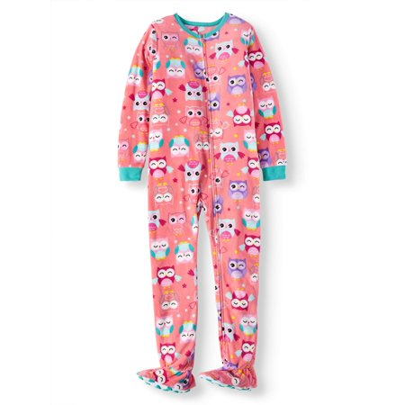 Komar Kids Girls' Owl Fleece Footed Blanket Sleeper (Little Girls & Big Girls)