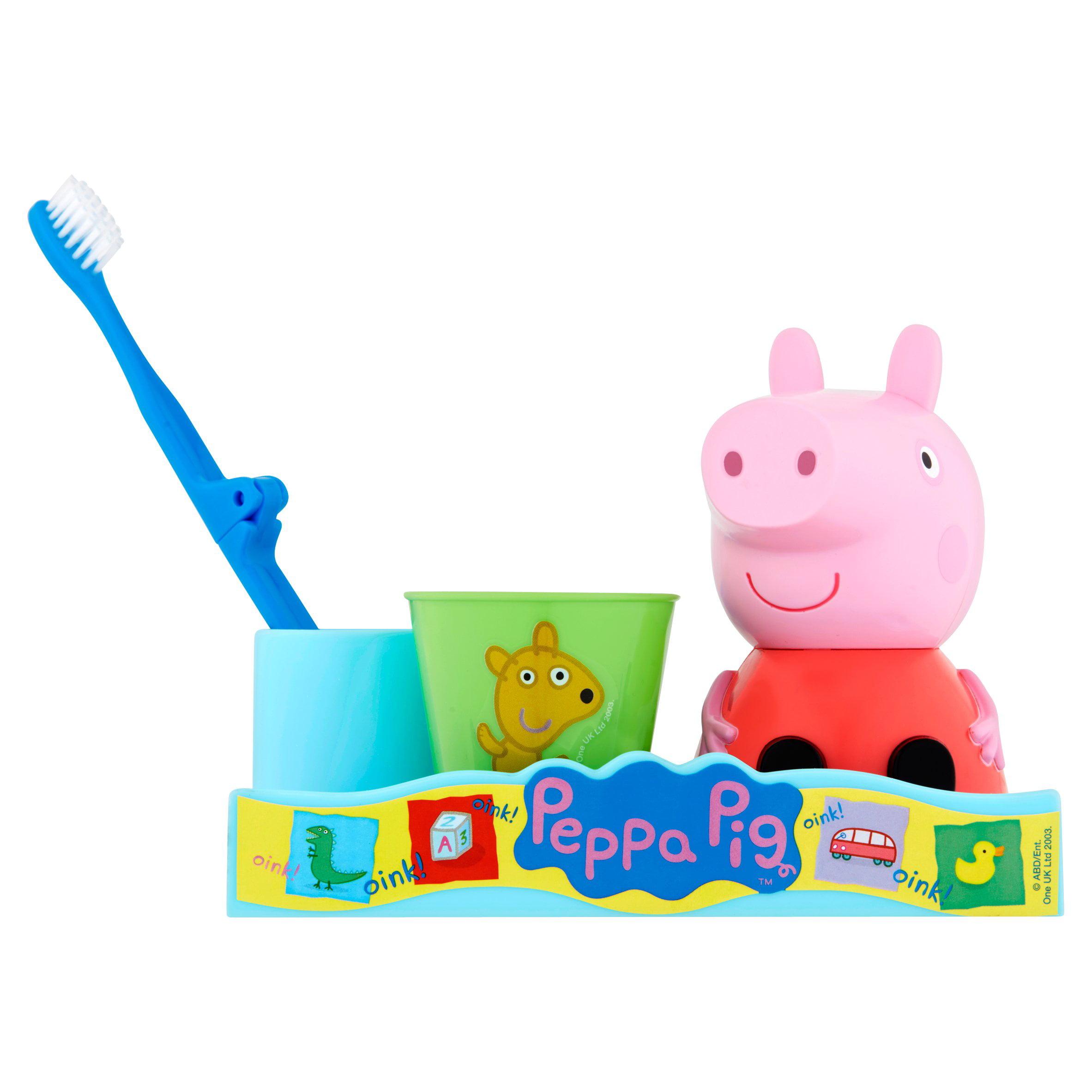 Peppa Pig Toothbrush, Toothbrush Holder, Rinse Cup Gift Set, 3pcs    Walmart.com