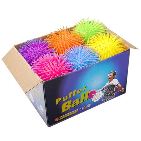 KELZ KIDZ Large & Thick 2 Tone Puffer Balls (12 Pack)](Large Blow Up Ball)