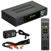 Digital Converter Box for Analog TV w/ RF/Coaxial Support Instant or Scheduled Recording 1080P HDTV HDMI Output Free Local Full HD Digital Channels