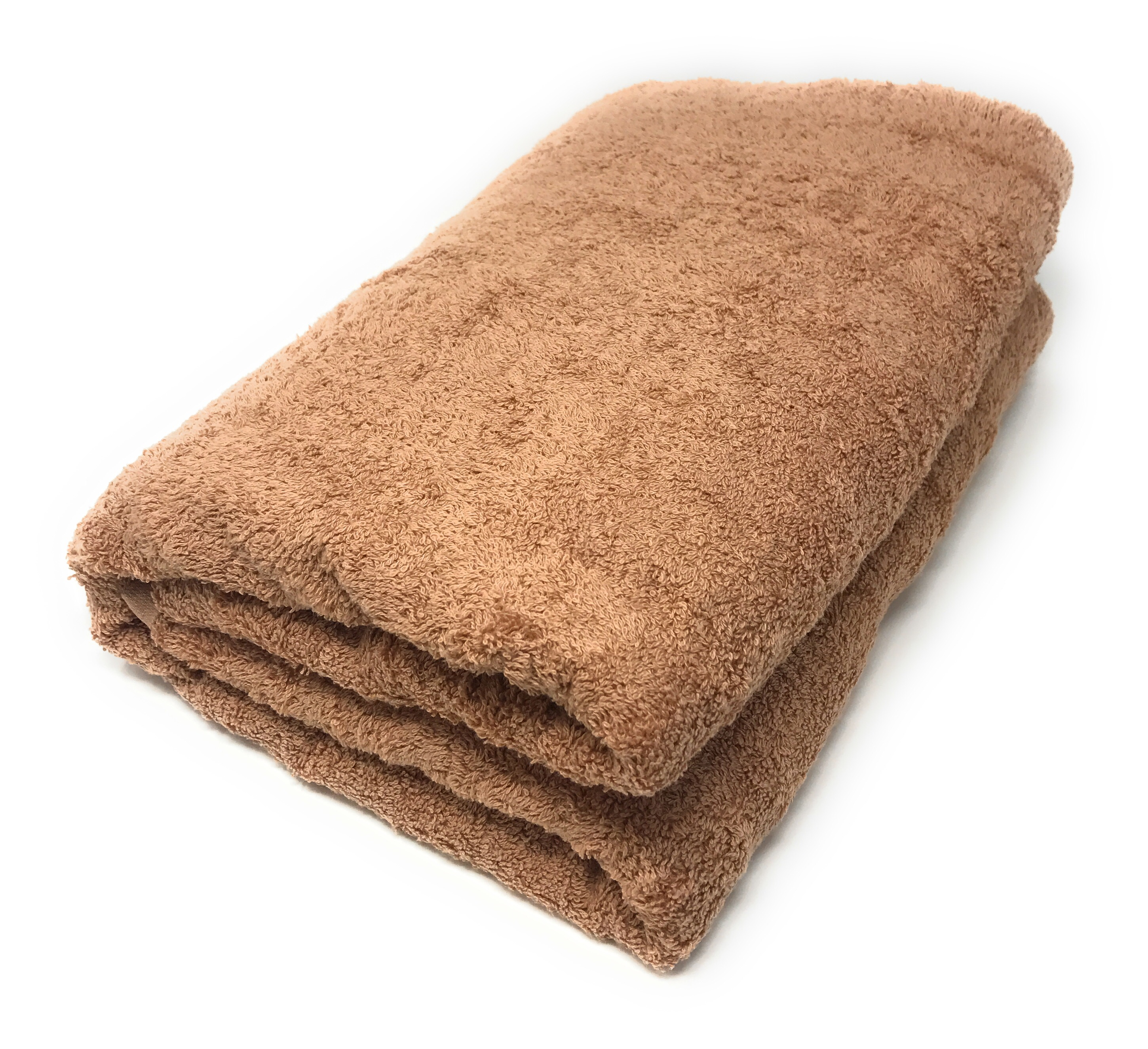 Goza Towels Cotton Oversized Bath Sheet Towel (40 x 70 inches) Camel Brown