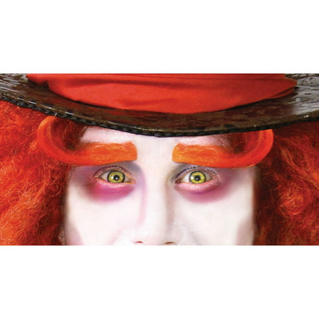 Alice Mad Hatter Orange Eyebrows Halloween - No Eyes Halloween