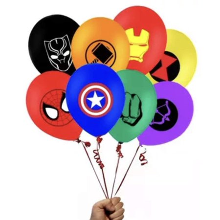 Superhero Balloon Bundle 16 piece Latex The Avengers 12 inch (Balloons Price)