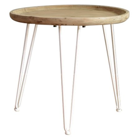 Screen Gems Wooden Side/end table with round top